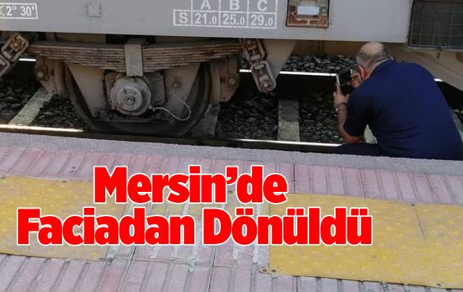 Mersin'in Tarsus İlçesinde Yük Treni Raydan Çıktı