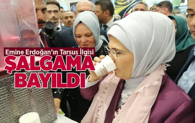 Cumhurbaşkanın Eşi Emine Erdoğan İçtiği Tarsus Şalgamına Hayran Kaldı