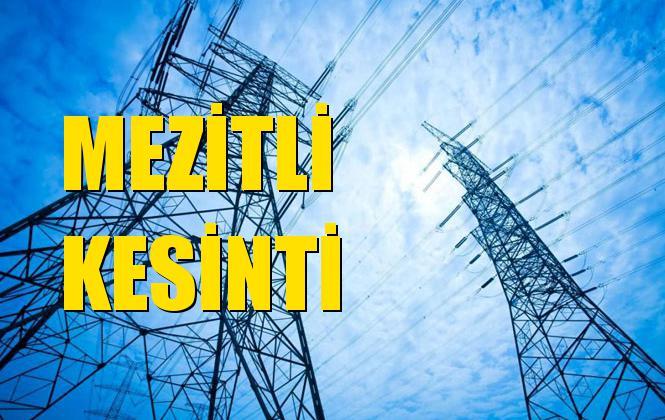 Mezitli Elektrik Kesintisi 21 Eylül Cumartesi