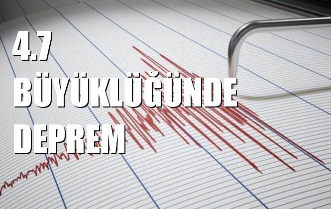 İstanbul Deprem; Merkez Üssü Silivri Açıkları- İstanbul (Marmara Denizi) Olan 4.7 Büyüklüğünde Deprem Meydana Geldi