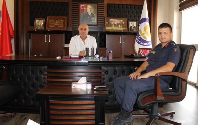 Jandarma Komutanı J.Yzb. Ahmet Boyacıoğlu'ndan Ziyaret