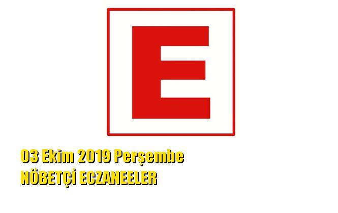 Mersin Nöbetçi Eczaneler 03 Ekim 2019 Perşembe