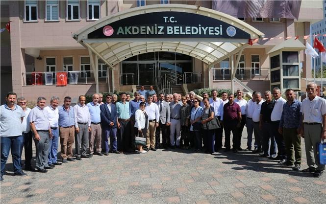 Akdeniz Muhtarlar Federasyonu'ndan Başkan Gültak'a Teşekkür Ziyaret