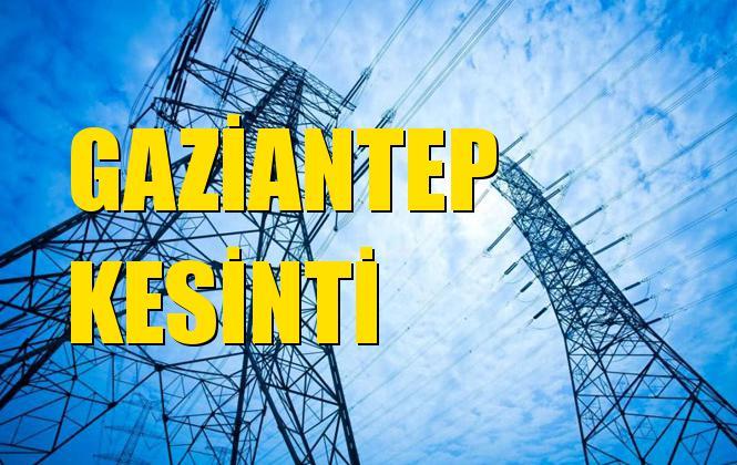 Gaziantep Elektrik Kesintisi 07 Ekim Pazartesi