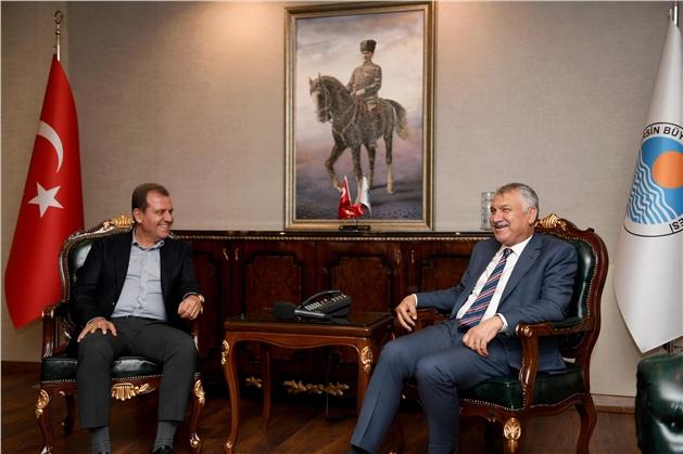 Zeydan Karalar'dan Başkan Seçer'e Hayırlı Olsun Ziyareti
