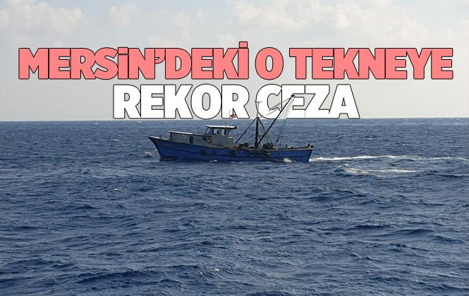 Mersin'de Silifke'de Yasadışı Avcılık Yapan Tekneye Rekor Ceza