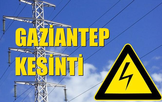 Gaziantep Elektrik Kesintisi 14 Ekim Pazartesi
