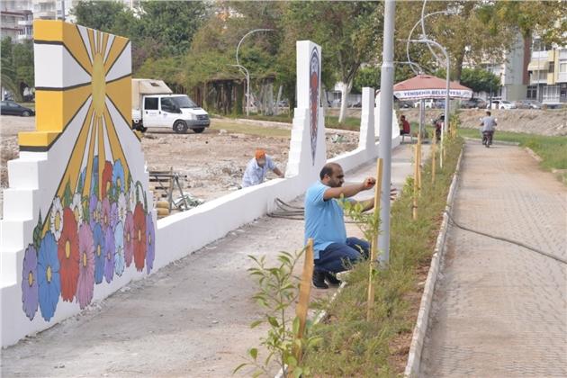 Yenişehir Belediyesinden Yürüyüş Yoluna Estetik Dokunuş