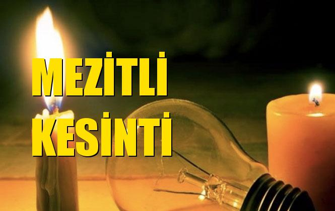 Mezitli Elektrik Kesintisi 20 Ekim Pazar