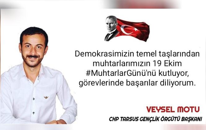 Başkan Veysel Motu'dan, Muhtarlar Günü Mesajı
