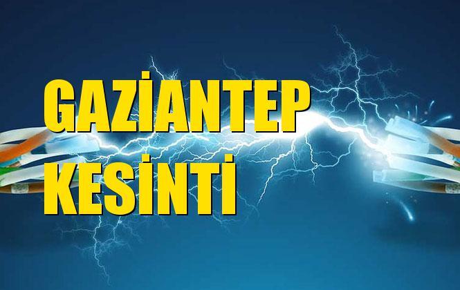 Gaziantep Elektrik Kesintisi 20 Ekim Pazar