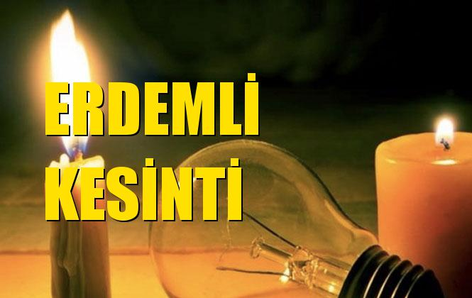 Erdemli Elektrik Kesintisi 22 Ekim Salı