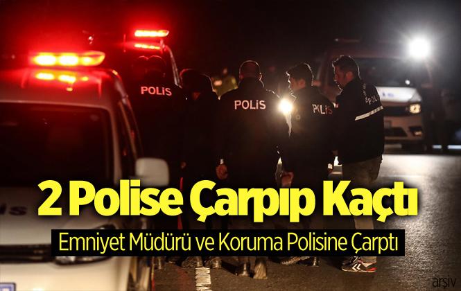 Mersin'de Dur İhtarına Uymayan Sürücü 2 Polise Çarparak Kaçtı