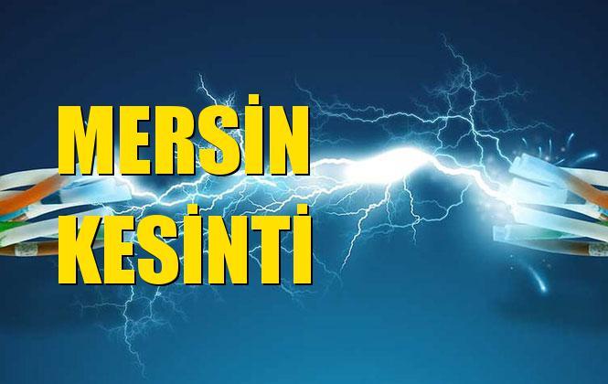 Mersin Elektrik Kesintisi 23 Ekim Çarşamba