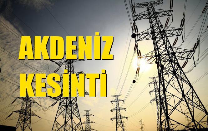 Akdeniz Elektrik Kesintisi 24 Ekim Perşembe
