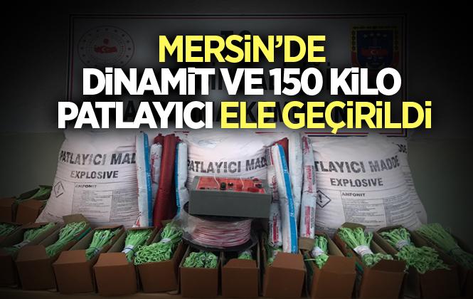Mersin'de Jandarma Ekipleri Tarafından 150 Kilo Patlayıcı ve Dinamit Ele Geçirildi