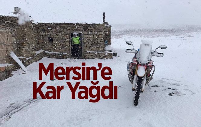Mersin'e Yılın İlk Karı Düştü