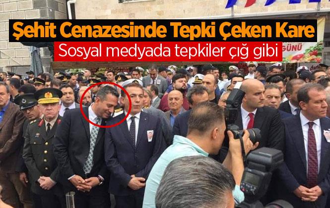 Şehit Mustafa Korkmaz'ın Cenaze Töreninde CHP Mersin Milletvekili Ali Mahir Başarır'ın Güldüğü Fotoğraf Tepki Topladı.