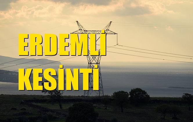 Erdemli Elektrik Kesintisi 31 Ekim Perşembe
