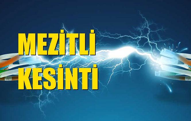 Mezitli Elektrik Kesintisi 31 Ekim Perşembe