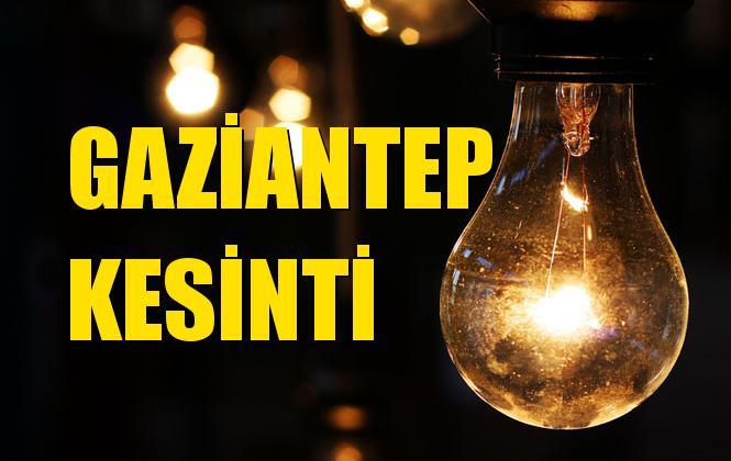 Gaziantep Elektrik Kesintisi 31 Ekim Perşembe