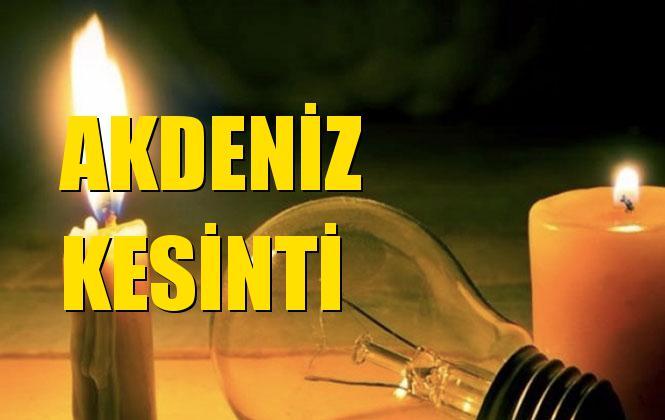 Akdeniz Elektrik Kesintisi 03 Kasım Pazar