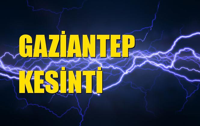 Gaziantep Elektrik Kesintisi 04 Kasım Pazartesi
