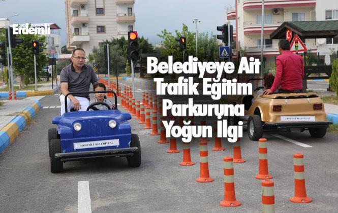 Mersin Erdemli'deki, Belediyeye Ait Trafik Eğitim Parkuruna Yoğun İlgi