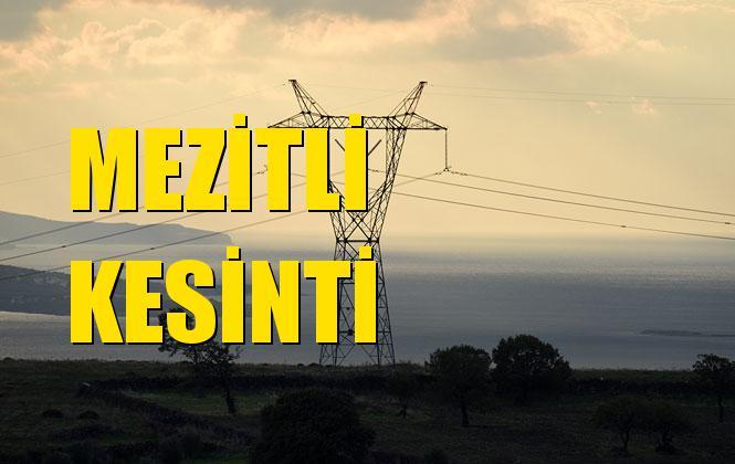 Mezitli Elektrik Kesintisi 08 Kasım Cuma