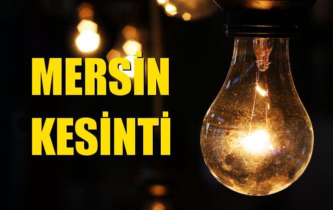 Mersin Elektrik Kesintisi 11 Kasım Pazartesi