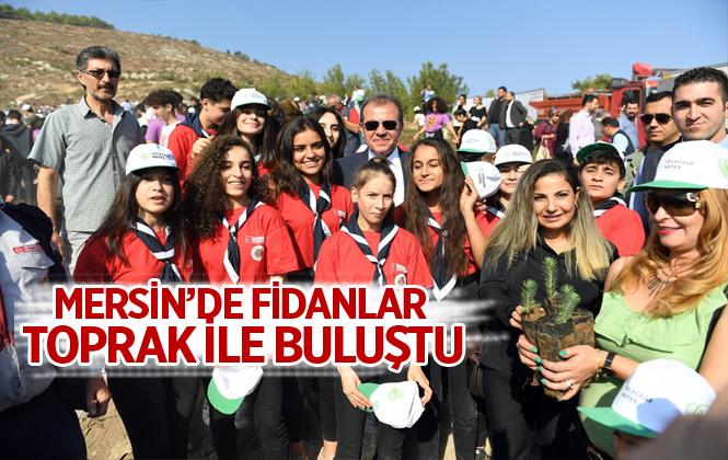 """""""Geleceğe Nefes-11 Milyon Fidan"""" Kampanyası Kapsamında Mersin'de de Fidanlar Toprak İle Buluştu"""