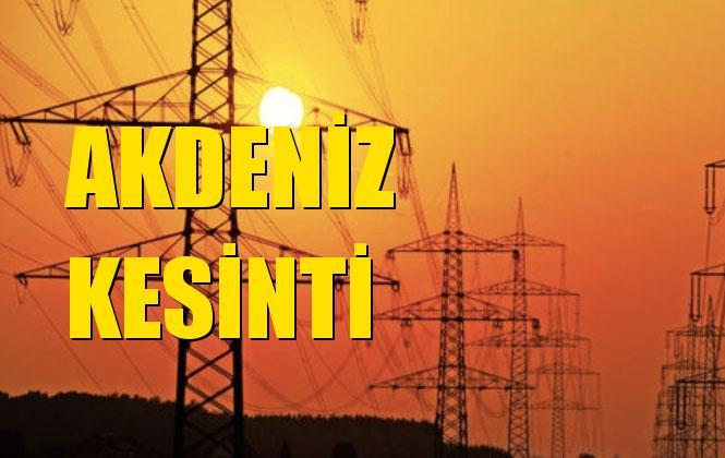 Akdeniz Elektrik Kesintisi 12 Kasım Salı