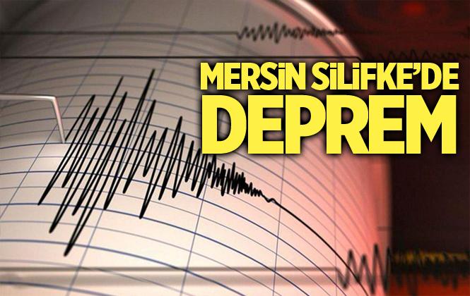 Mersin Silifke'de Deprem Meydana Geldi