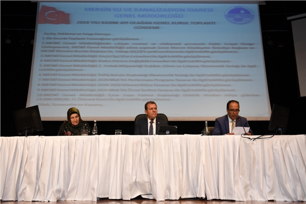 MESKİ Genel Müdürlüğü Kasım Ayı Genel Kurul Birinci Toplantısı Yapıldı
