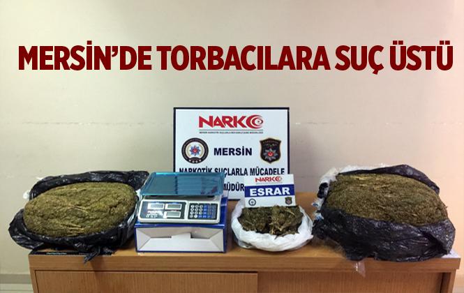 Mersin Polisinde Torbacıya Suçüstü