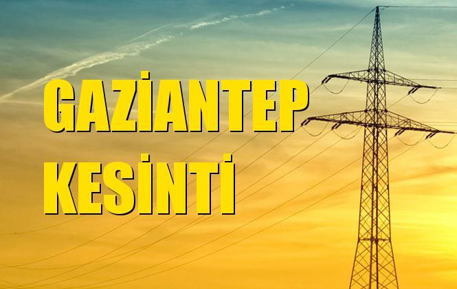 Gaziantep Elektrik Kesintisi 18 Kasım Pazartesi