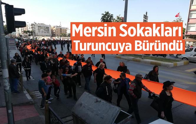 Mersin'de 25 Kasım Kadına Yönelik Şiddete Karşı Hayır Yürüyüşü Yapıldı