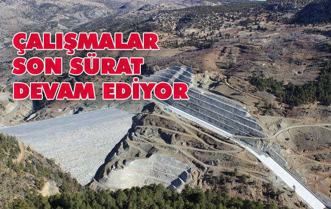 Mersin'in En Önemli Yatırımları Arasında Gösterilen Sorgun Barajında Çalışmalar Devam Ediyor