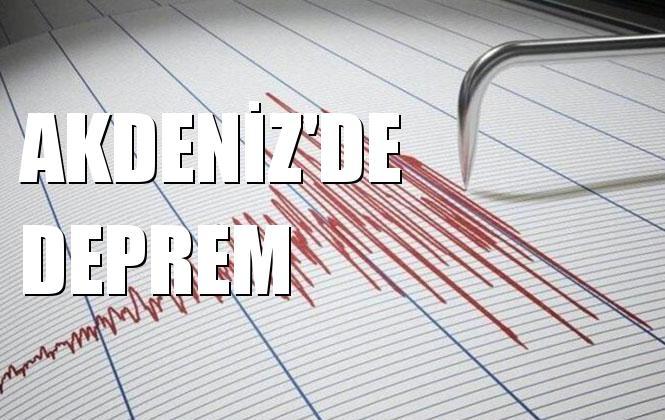 Merkez Üssü Akdenız Olan 2.7 Büyüklüğünde Deprem Meydana Geldi