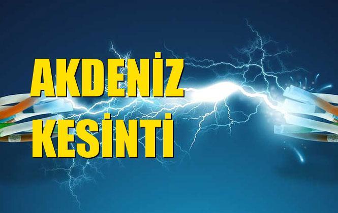 Akdeniz Elektrik Kesintisi 01 Aralık Pazar