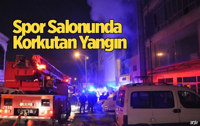 Mersin Tarsus'ta Özel Spor Salonunda Yangın
