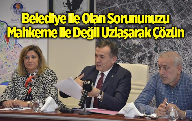 Yenişehir Belediye Başkanı Abdullah Özyiğit, Mahkemelerde Değil Uzlaşıyla Çözelim