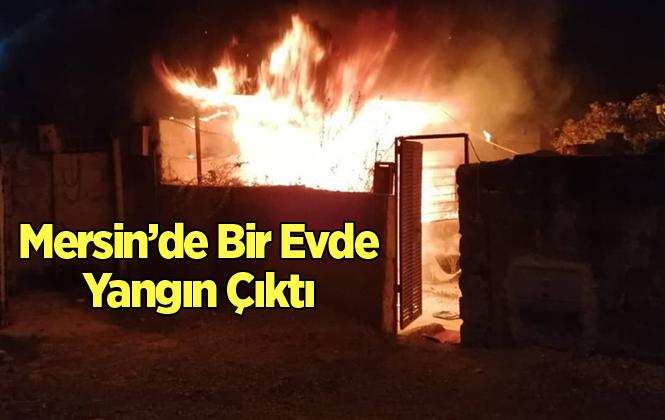 Mersin Tarsus'ta Ev Yangını