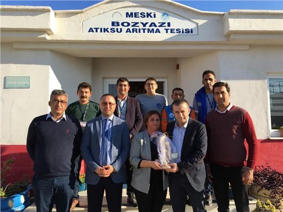 MESKİ Genel Müdürü Alaeddin Alkaç, Alkaç Anamur ve Bozyazı Atıksu Arıtma Tesislerini Gezdi