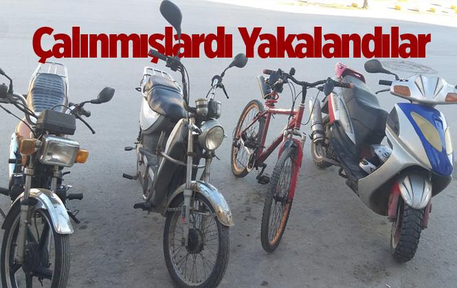 Mersin Akdeniz'de Çalınan Motosiklet ve Bisikletler Ele Geçirildi