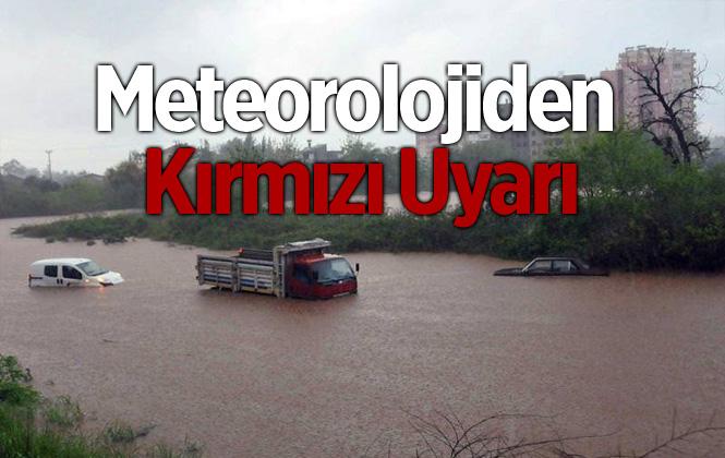 Meteorolojiden Antalya'ya Kırmızı Kodlu Yağış Uyarısı Yapıldı