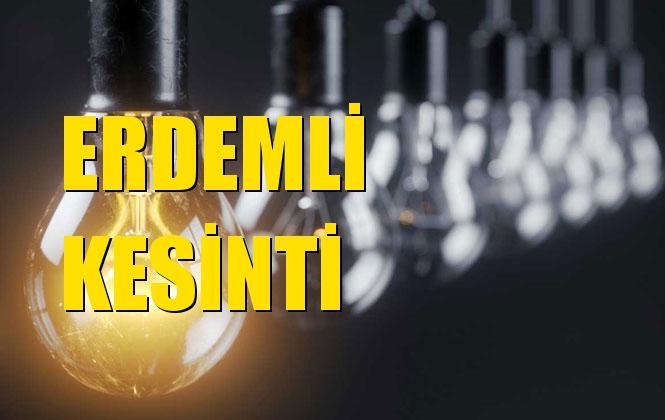 Erdemli Elektrik Kesintisi 12 Aralık Perşembe