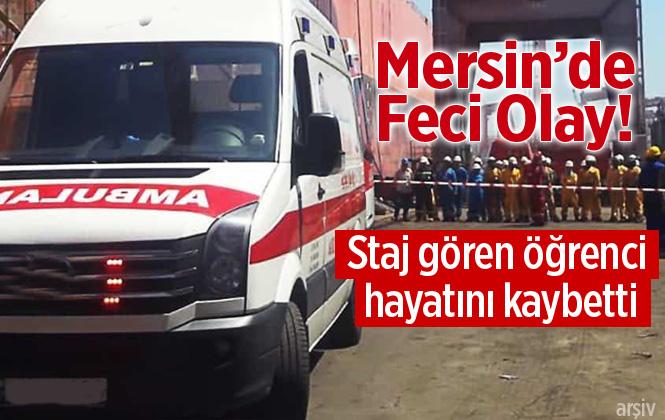 Mersin Tarsus'ta Staj Öğrencisi Mehmet Fatih Çiftçi İş Makinesinin Altında Kalarak Hayatını Kaybetti.