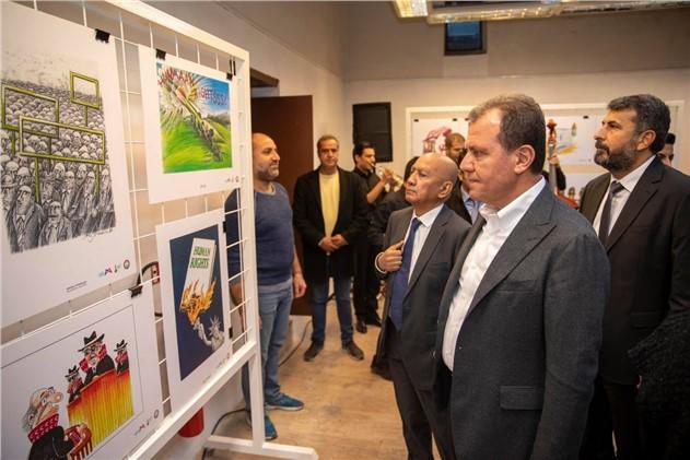 Dünya İnsan Hakları Etkinlikleri, Mersin'de Karikatür Sergisi İle Başladı