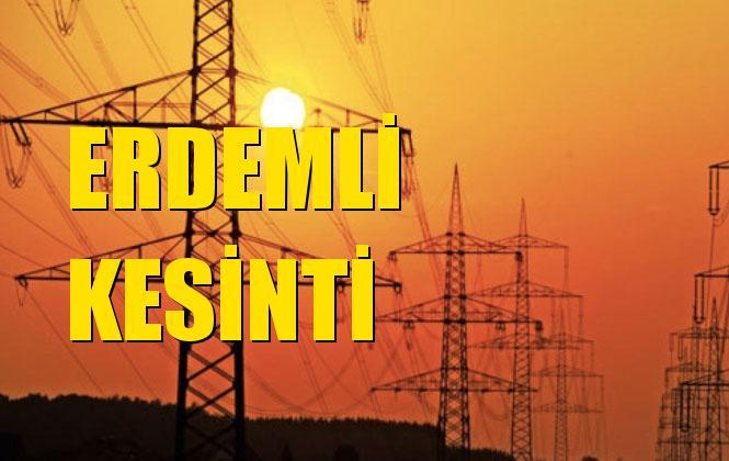 Erdemli Elektrik Kesintisi 15 Aralık Pazar